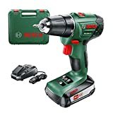 Bosch PSR 1800 LI-2 Cordless Lithium-Ion Drill Driver Featuring Syneon Chip, 1.5 Ah (with 1 x 18 V Battery) by Bosch