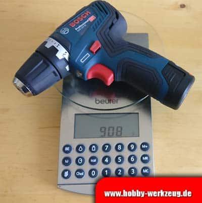 Bosch GSR 12v-35 Waage